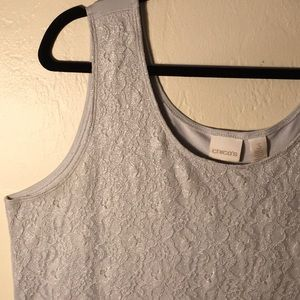 Silver Lace Tank Top